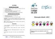 Educação Infantil –2012 - Colégio São José
