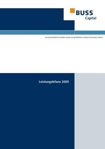 Leistungsbilanz 2005 - Buss Capital