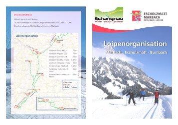 Loipenprospekt 2012 - Schangnau