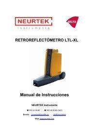 RETROREFLECTÓMETRO LTL-XL Manual de Instrucciones ... - Delta