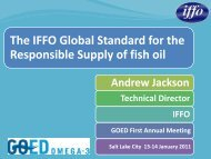 The IFFO Global Standard for the Responsible Supply of fish oil