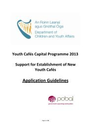 Youth Café Application Guidelines March 2013 - Pobal