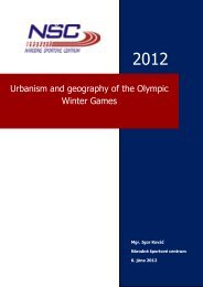 Urbanism and geography of the Olympic Winter Games