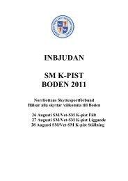 INBJUDAN SM K-PIST BODEN 2011