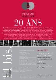 janvier 2006 - Médiathèque Musicale Mahler