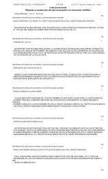 Razones y causas por las que se propone NO reconocer créditos