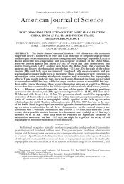 American Journal of Science - The Department of Geology ...
