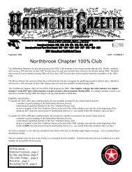 Harmony Gazette - New Tradition Chorus