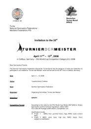 Invitation to the 32 April 11 – 13 , 2008 - SC Cottbus Turnen e.V.