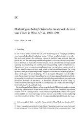 Marketing als bedrijfshistorische invalshoek. De case van Vlisco in ...