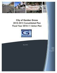 City of Garden Grove 2010-2015 Consolidated Plan Fiscal Year ...