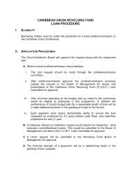 caribbean union revolving fund loan procedure - Planned Giving ...