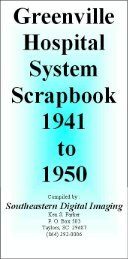 Greenville Hospital System Scrapbook 1941 to 1950 - Magazooms