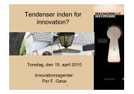 Tendenser inden for innovation? - Lasse Ahm Consult