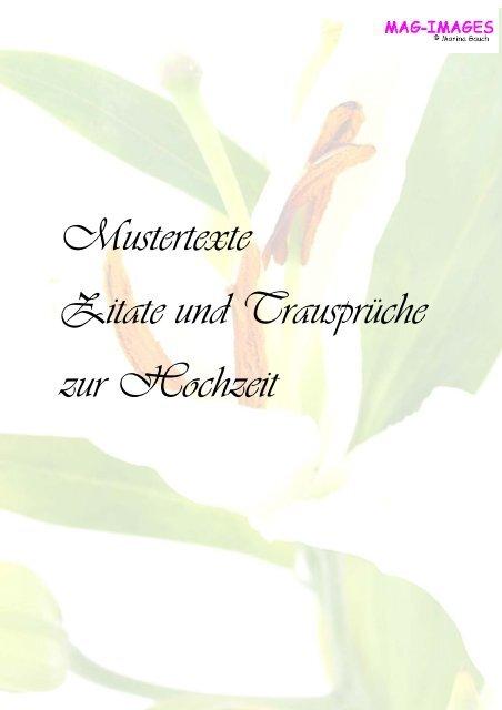 Mustertexte Zitate Und Trausprã Che Zur Hochzeit Mag