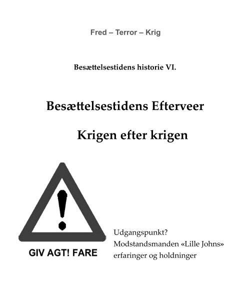 Besættelsestidens Efterveer Krigen efter krigen - Aage Staffe