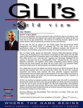 Fall/Winter 2002/2003 - Gaming Laboratories International