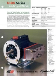 PDF File of D04 Pump Catalog Page up to 3 GPM at 2500 PSI