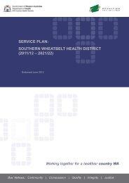 Southern Service Plan - WA Country Health Service