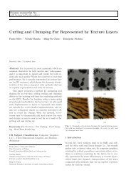 Curling and Clumping Fur Represented by Texture Layers