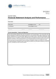 Financial Statement Analysis and Performance