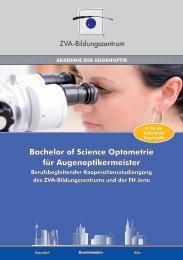 Bachelor of Science optometrie für Augenoptikermeister