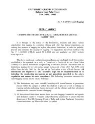 UGC Regulations on curbing the ragging in higher edu. institutions