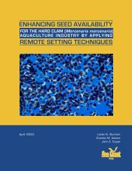 Enhancing Seed Availability for the Hard Clam ... - eXtension