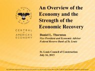 Fed Reserve - Dan Thornton Presentation - the St. Louis Council of ...