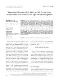 Expressional Difference of RHEB, HDAC1, and WEE1 Proteins in ...