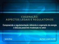 A Cogeração e sua inserção ao Sistema Elétrico - Cogen