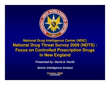 National Drug Threat Survey 2009 (NDTS) : Focus on ... - benzo