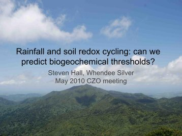 Rainfall and soil redox cycling: can we predict biogeochemical ...