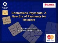 A New Era Of Payments For - Smart Card Alliance