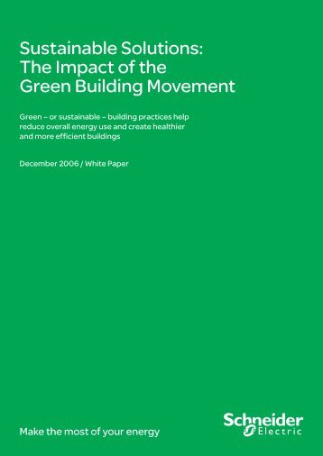 Sustainable Solutions: The Impact of the Green ... - Schneider Electric