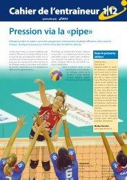 Swiss Volley Magazine, Cahier de l'entraîneur 2012-1