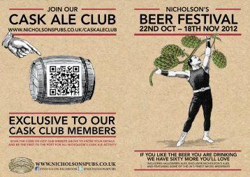 Festival beer list - Nicholson's Pubs