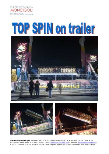 TOP SPIN on trailer - Moncigoli Rides