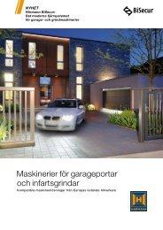 Maskinerier för garageportar och infartsgrindar - Garageportexperten