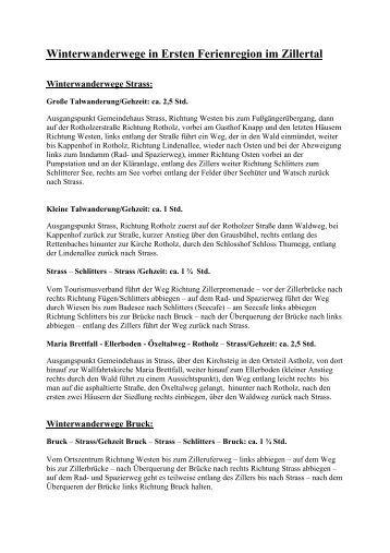 Winterwanderwege im Zillertal - Hotel Gasthof Post
