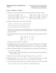 Tema 1: Espacios vectoriales - Departamento de Matemáticas