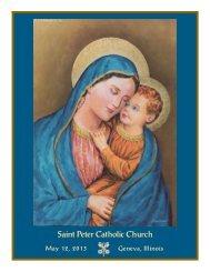 May 12, 2013 - St. Peter Catholic Church