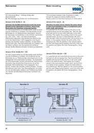 Motormounting Bevel helical gearboxes