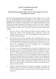 Bekanntmachung gemäss § 23 Absatz 1 Satz 1 Nr - Clariant