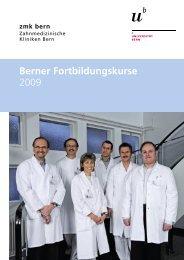 Berner Fortbildungskurse 2009 - zahnmedizinische kliniken zmk ...