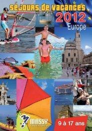 CATALOGUE SEJOURS EUROPE 2012_CATALOGUE ... - Massy