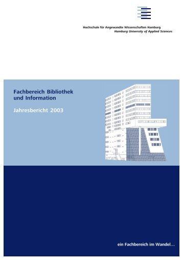 ein Fachbereich im Wandel… - Department Information - HAW ...