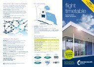 flight timetable - Bournemouth Airport