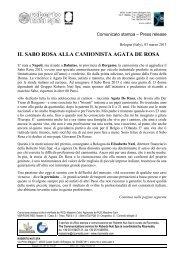 Il Sabo rosa ad Agata De Rosa
