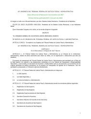 Ley Orgánica del Tribunal Federal de Justicia Fiscal y Administrativa